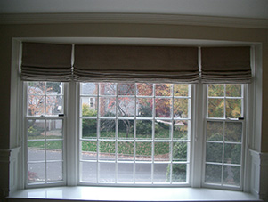 Roman_shades_brown_Great_Falls_VA